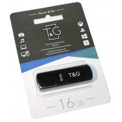 USB флеш-накопичувач 16GB T&G 011 Shorty series Black (TG011-16GBBK)