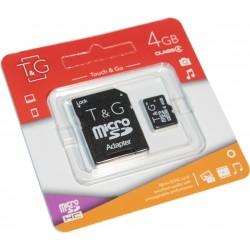 Карта пам'яті microSDHC 4ГБ T&G, Class4 (TG-4GBSDCL4-01)