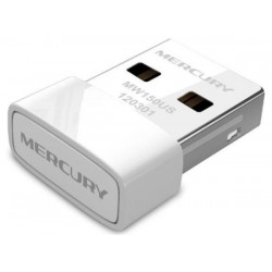 Мережева карта Mercury MW150US White USB, WiFi 802.11n, 150 Мбит/с, Nano