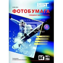 Фотобумага глянцевая IST, 20 листов A4, 180г/м2 (G180-20A4)