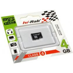 Карта пам'яті microSDHC 4ГБ Hi-Rali, Class4 (HI-4GBSDCL4-00)