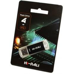 USB флеш-накопичувач 4GB Hi-Rali Rocket series Black (HI-4GBVCBK)