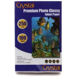 Фотопапір глянцевий Crystal, 100 аркушів A6, 250г/м2