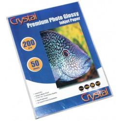 Фотопапір глянцевий Crystal, 50 аркушів 13x18, 200г/м2