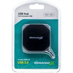 Концентратор USB Grand-X Travel , 4xUSB3.0 (GH-415)