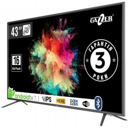 "Телевізор 43"" Gazer TV43-FS2G LED Full HD 1920x1080 60Hz, Smart TV, HDMI, USB, Vesa (200x100)"