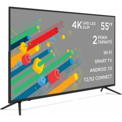 "Телевізор 55"" ERGO LE55CU6550AK, LED Full HD 3840x2160 60Hz, Smart TV, DVB-T2, HDMI, USB, VESA (400x200)"