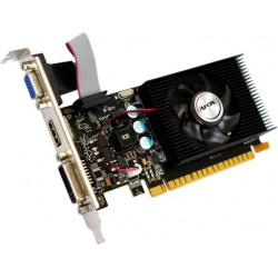 Відеокарта GeForce GT220, AFOX, 1Gb DDR3, 128-bit, VGA/DVI/HDMI, 668/1308MHz, Low Profile (AF220-1024D3L2)