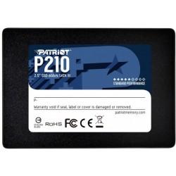 "Накопитель 128Gb, Patriot P210, SATA3, 2.5"", 3D TLC, 450/350 MB/s (P210S128G25)"