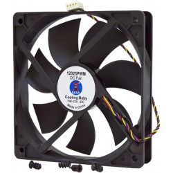 Кулер до корпусу 120 mm Cooling Baby 12025 PWM 120x120x25мм HB, 12В, 0,30А 17.6-31.3дБ